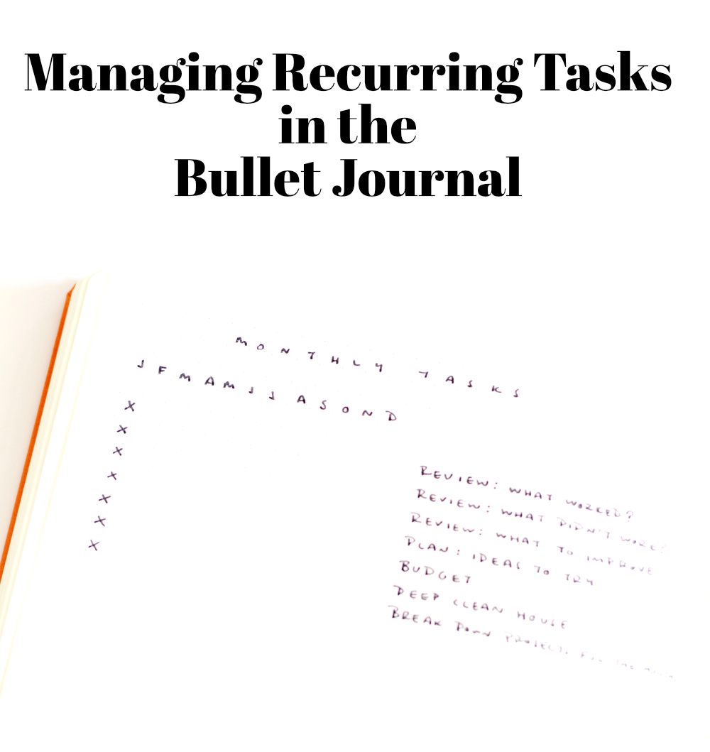 Managing recurring tasks in the Bullet Journal