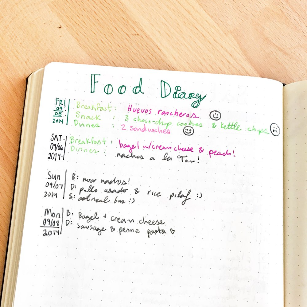 the food log learn about your eating habits with your bullet