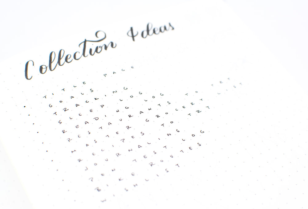 Collection of Collection Ideas for your Bullet Journal
