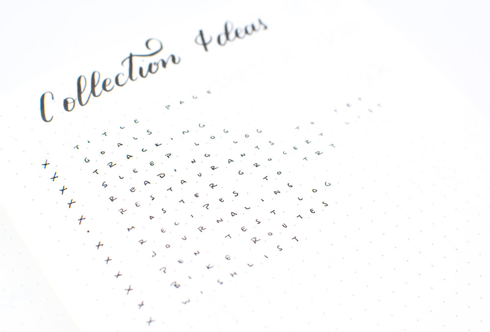 Checked off Collections you've added to your Bullet Journal