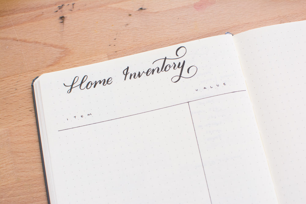 Keep track of your belongings with an Inventory Log in your Bullet Journal