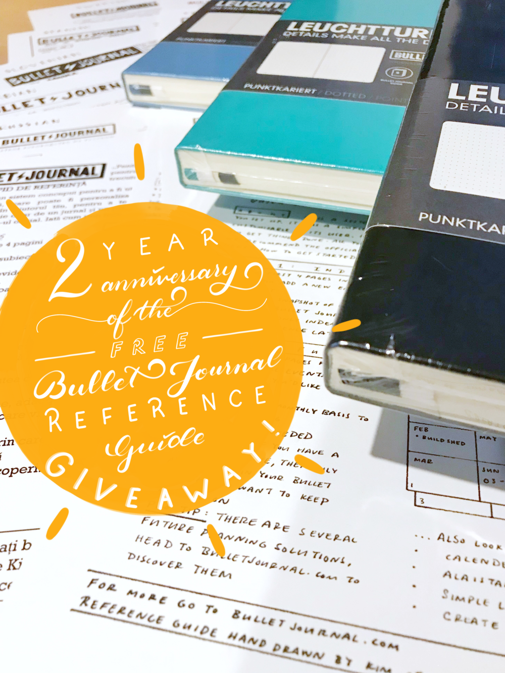 Tiny Ray of Sunshine 2 Year Bullet Journal Reference Guide Giveaway