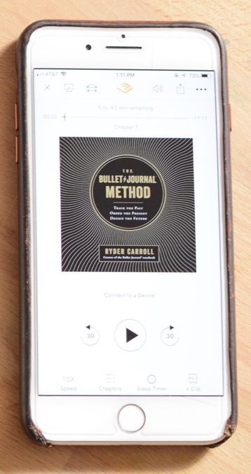 Listen to The Bullet Journal Method - Via Audible!