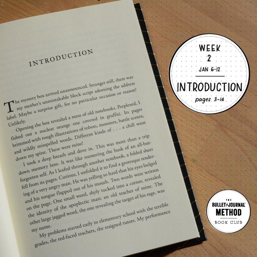 Week 2: Introduction (The Bullet Journal Method Book Club)