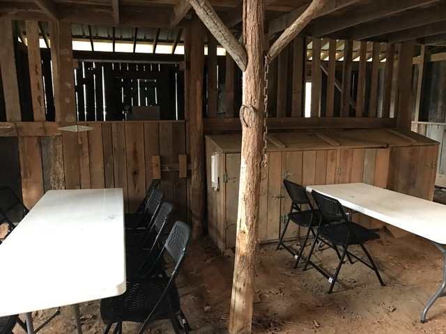 Barn tables by stalls.JPG
