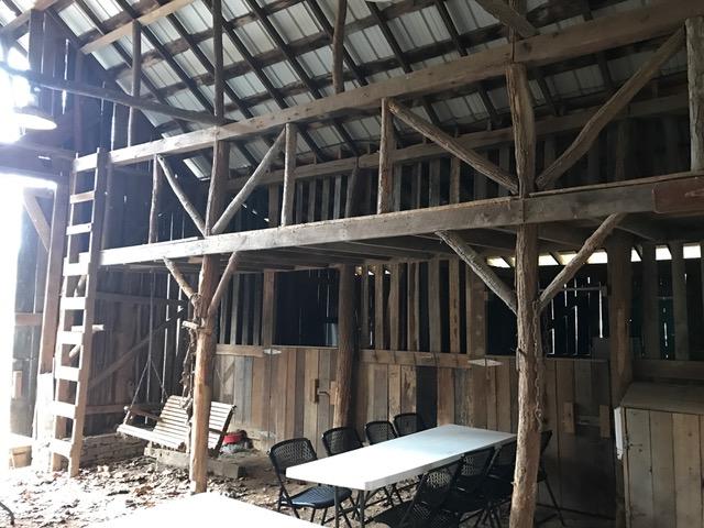 Barn ladder, swing, table.JPG