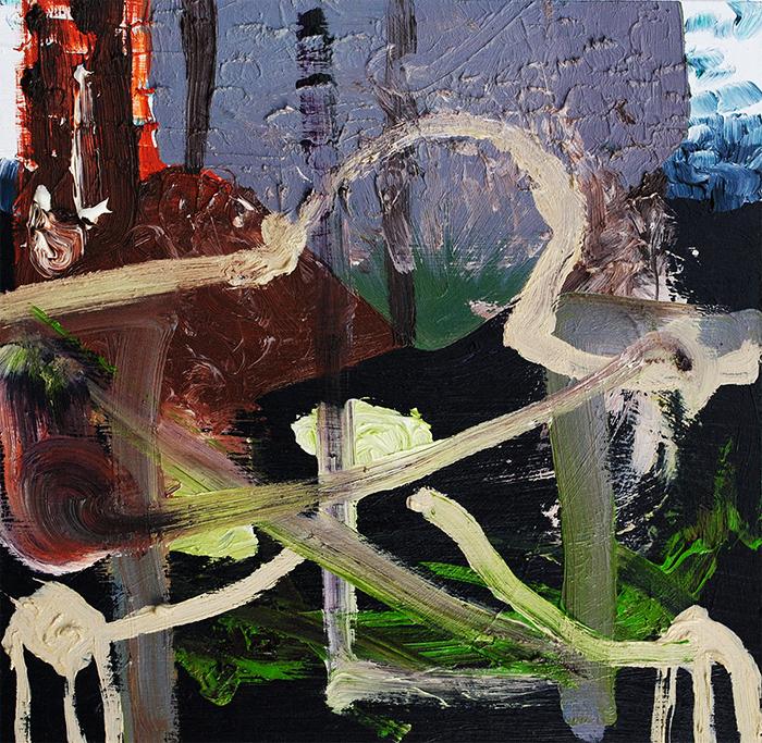 A Nightmare on Wickham Street, oil on board, 30 x 30 cm, 2013