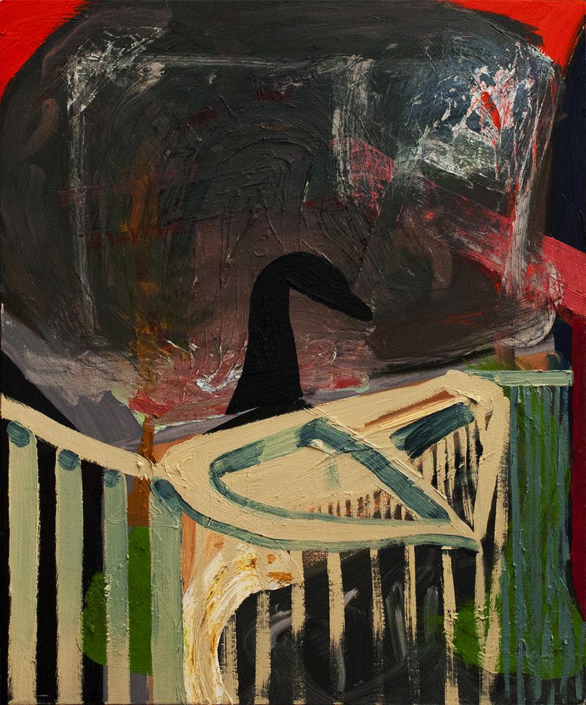 Pilot, oil on canvas, 75 x 63 cm, 2013