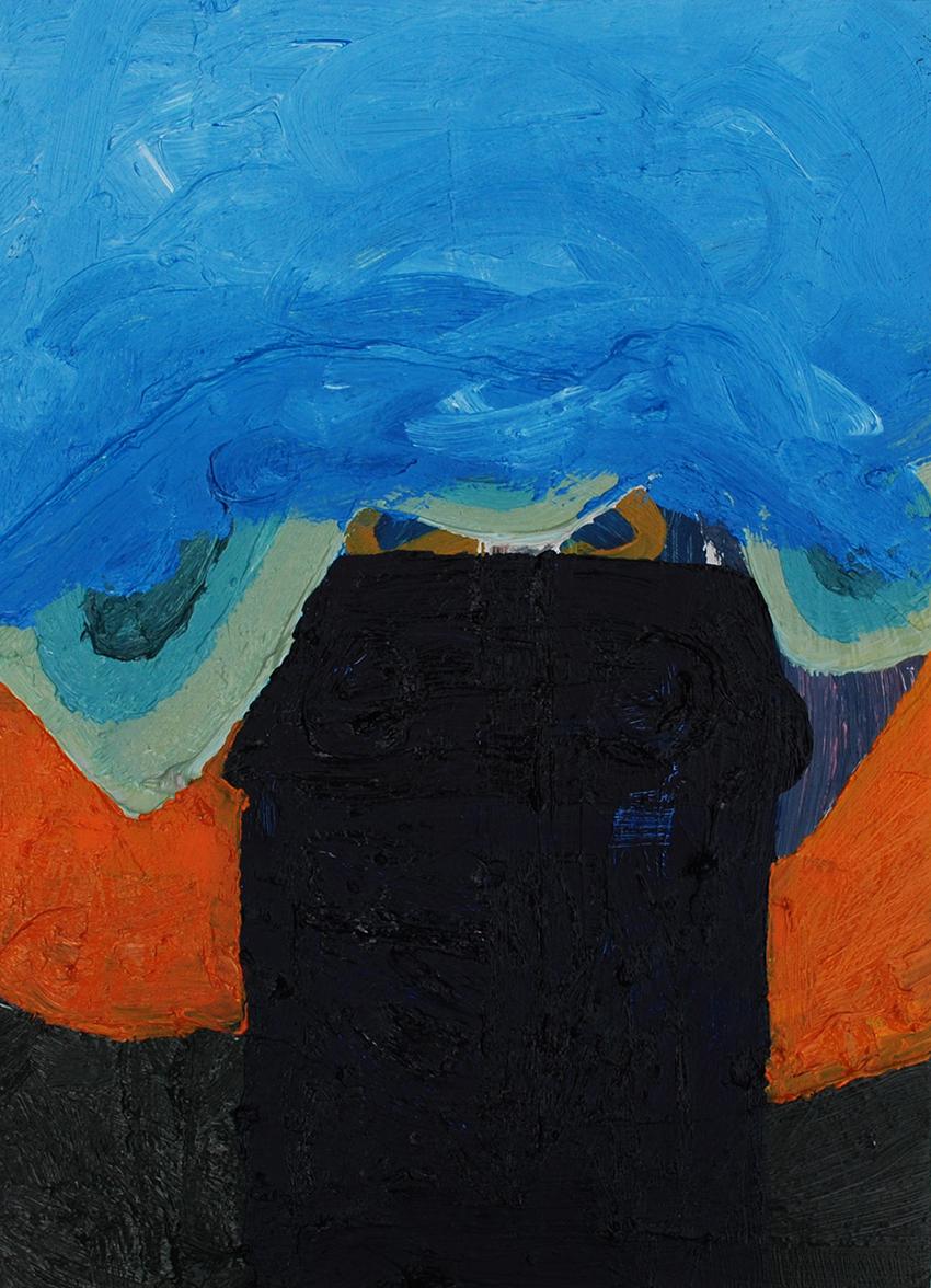 Untitled, oil on board, 25 x 18 cm, 2013