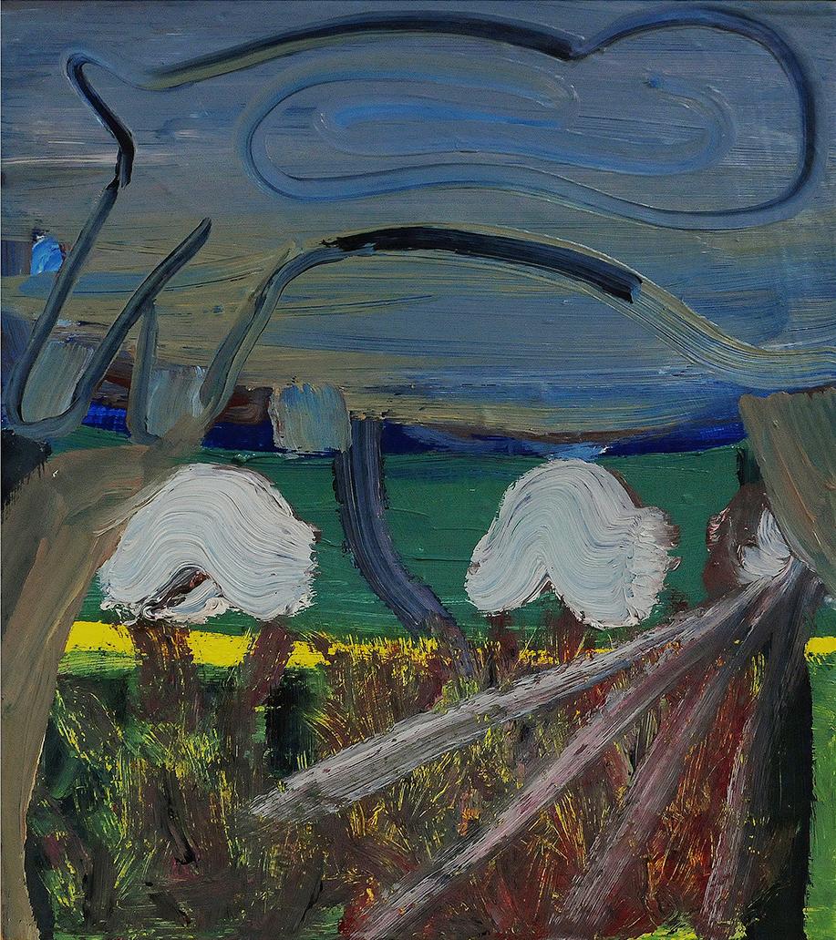 Untitled, oil on board, 25 x 22 cm, 2013