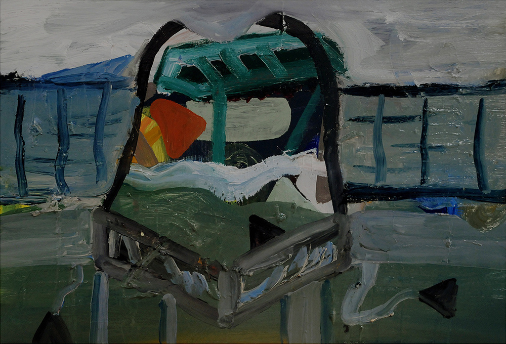 Untitled, oil on board, 27 x 40 cm, 2012