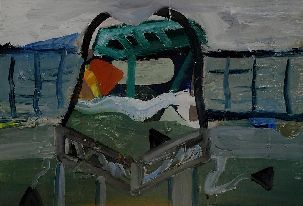 Untitled, oil on board, 27 x 40 cm, 2012