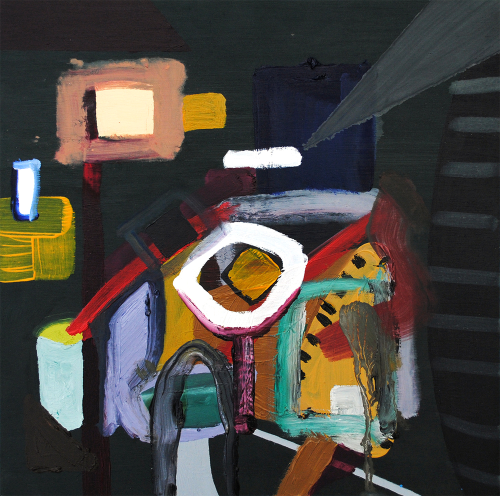 Untitled, oil on board, 30 x 30 cm, 2011