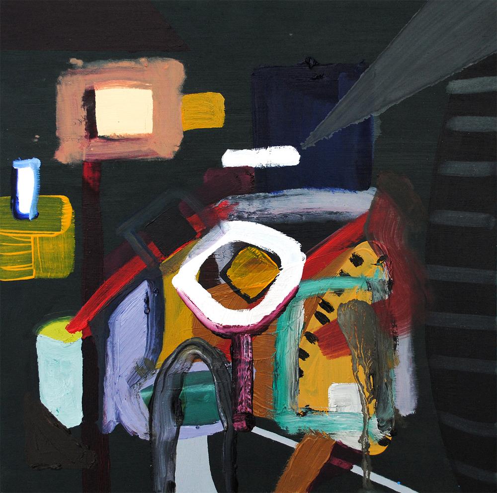 Untitled, oil on board, 30 x 30 cm, 2011