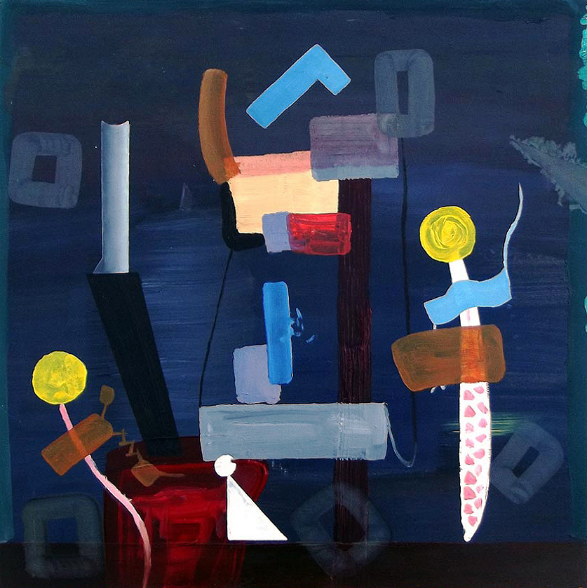 Untitled, oil on board, 34 x 34 cm, 2011