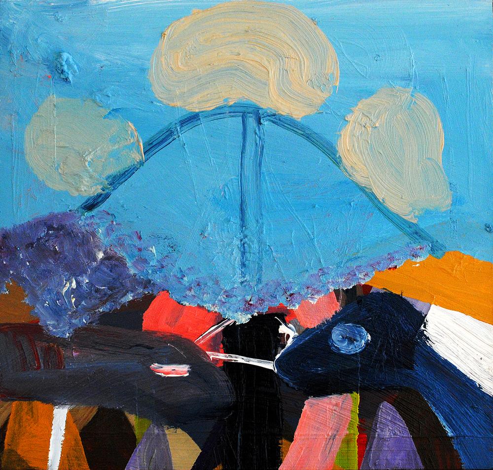 Untitled, oil on board, 26 x 26 cm, 2013