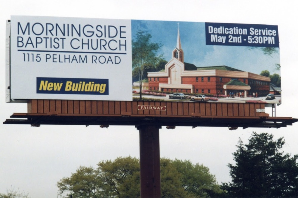 Billboard advertising new Morningside building