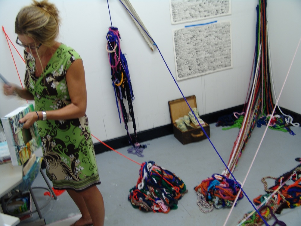 Cortney Frasier in her SCAD studio.