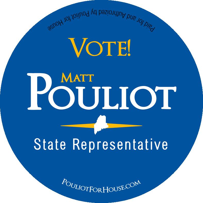 Matt Pouliot Campaign Pin