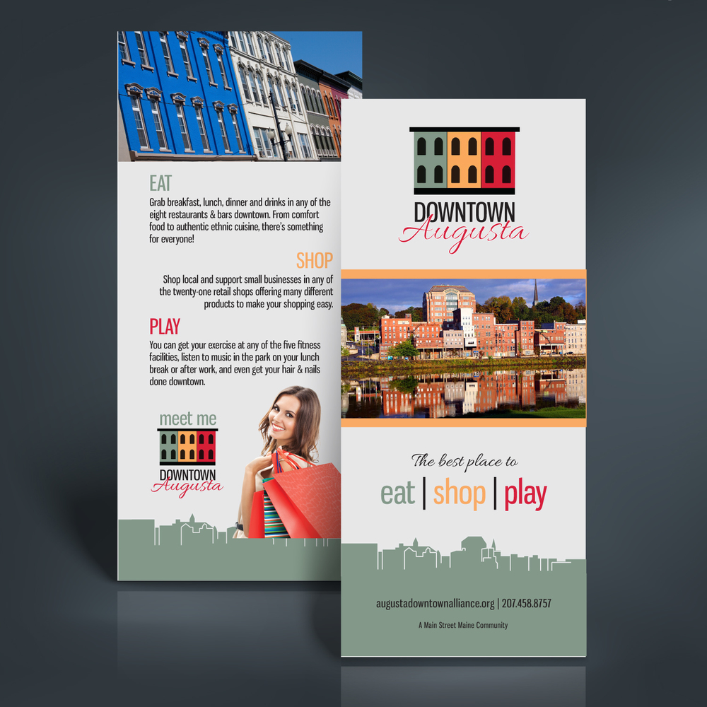 Augusta Downtown Alliance Rack Card