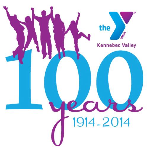 Kennebec Valley YMCA's 100 Year Anniversary Logo