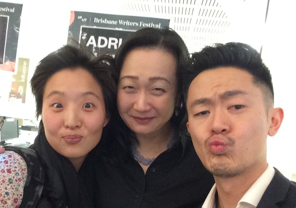 Selfie time! with Min Jin Lee and Benjamin Law