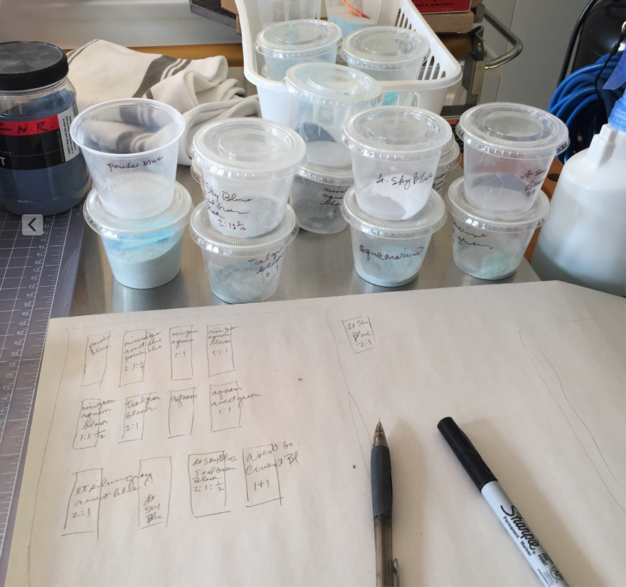 Mixing glass powders/charting ratios