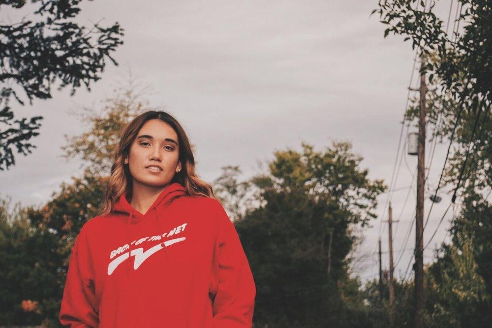 back of the net hoodie