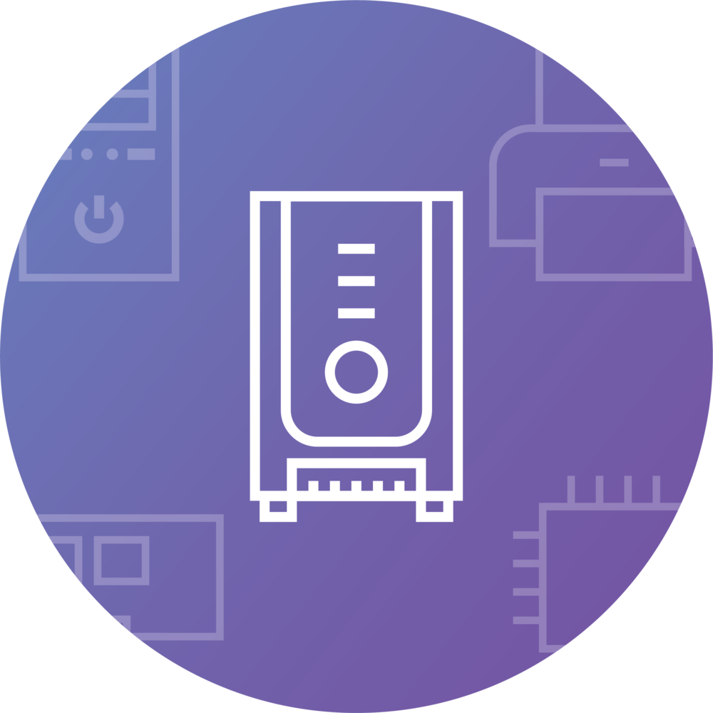 Iconos – Sistemas - Diseño de iconos para aplicación de inventariado de material informático.