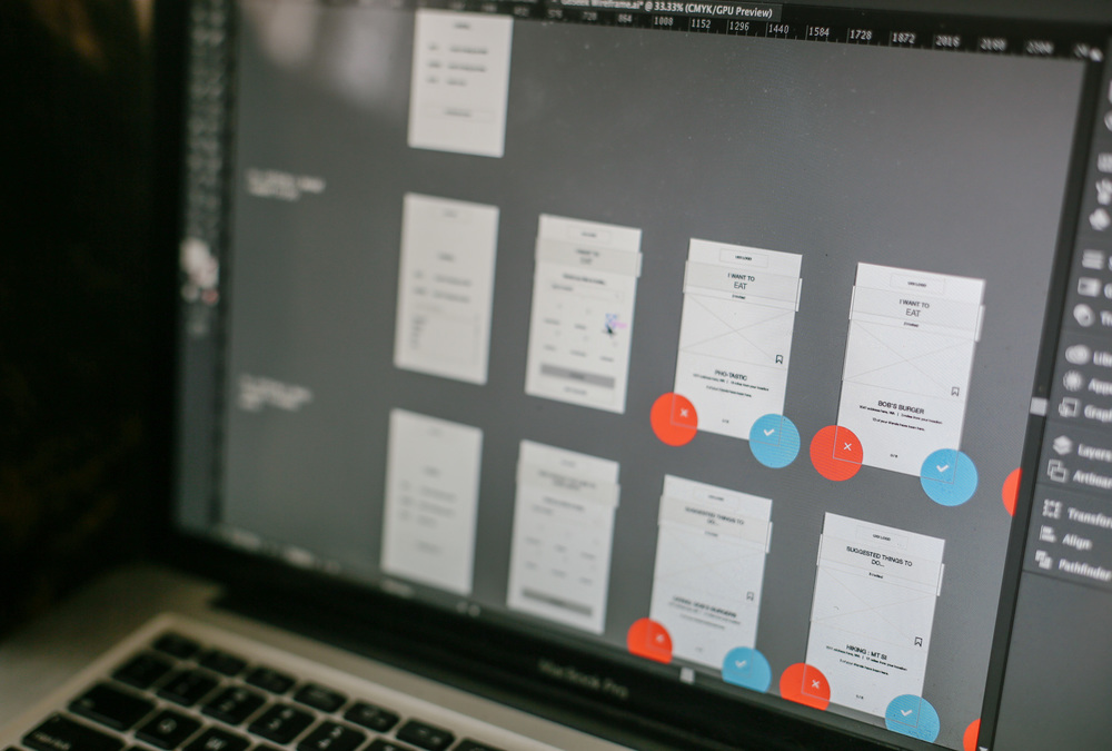 Our low-fidelity wireframes incorporated feedback from our first round of testing and were used to implement our next usability test: a click-through prototype.
