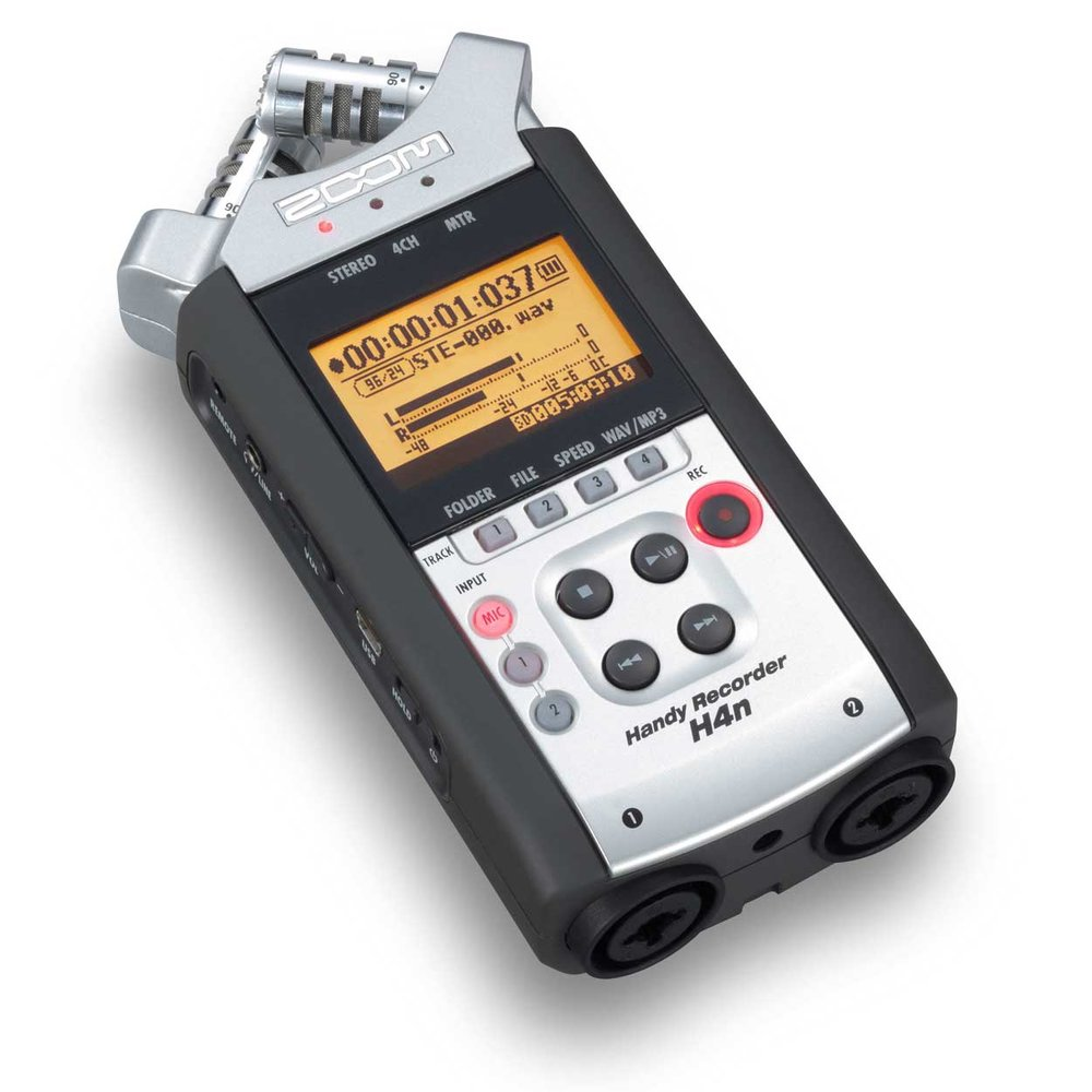 Zoom H4n field recorder with XLR inputs