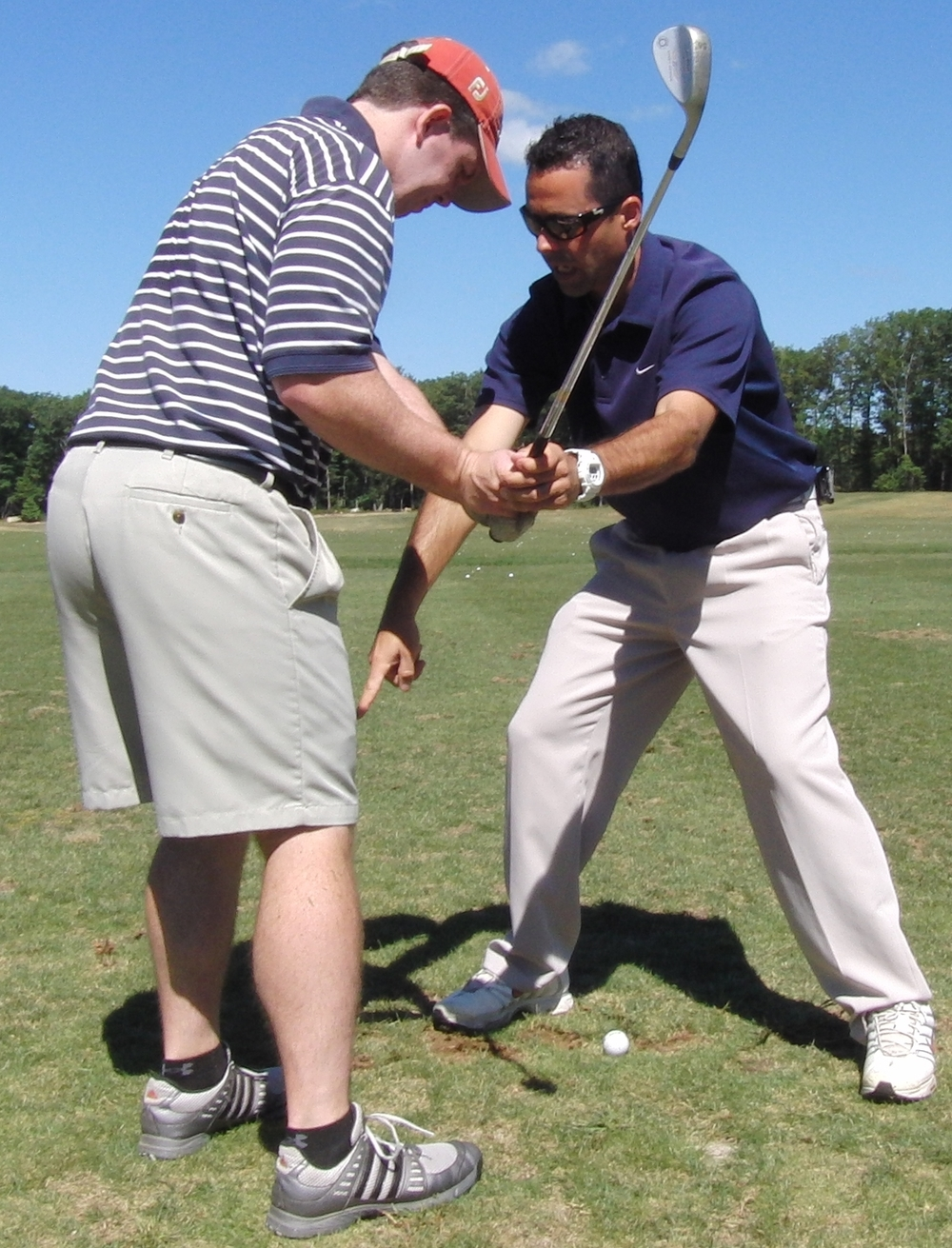 Private golf lessons provide one-on-one attention to improve specific skill sets but private golf lessons don't improve how and what a player does during practice.