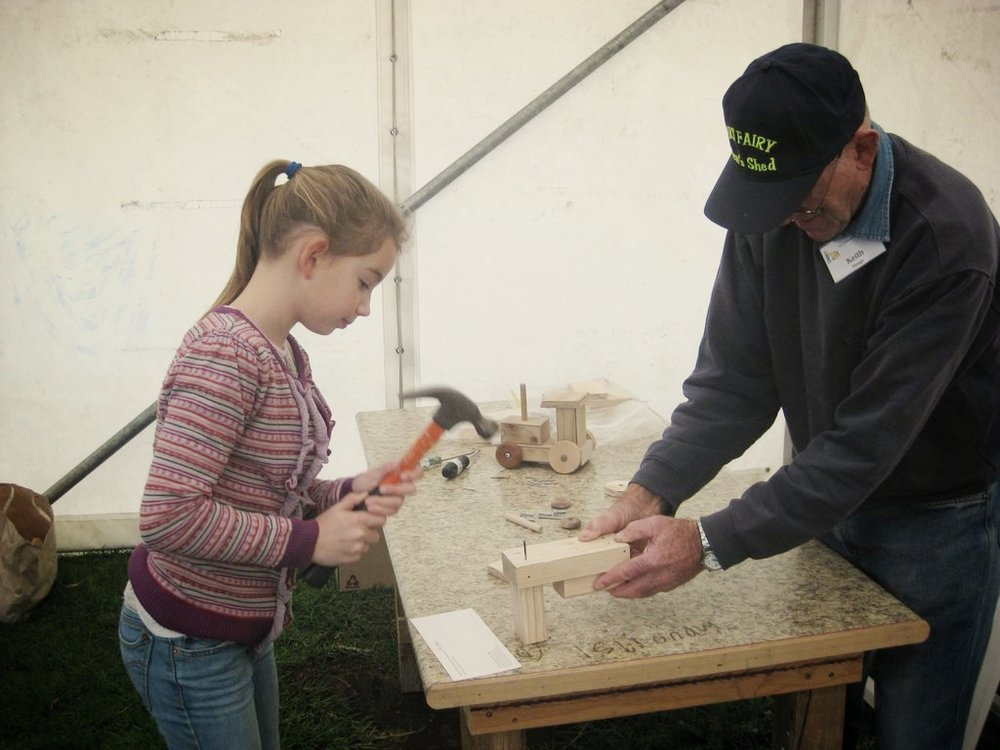 WORKSHOP: TOY MAKING - COLD COINSaturday 9 June  10am-12:30pmRailway Place, Bank StThe Men's Shed masters lead a toy making workshop for kids of all ages to construct wooden toys. All materials and equipment is provided in this hands-on open class, where children can paint their toy after building it. After a session on the tools, wander through our excellent community market for local and handmade produce and treats.