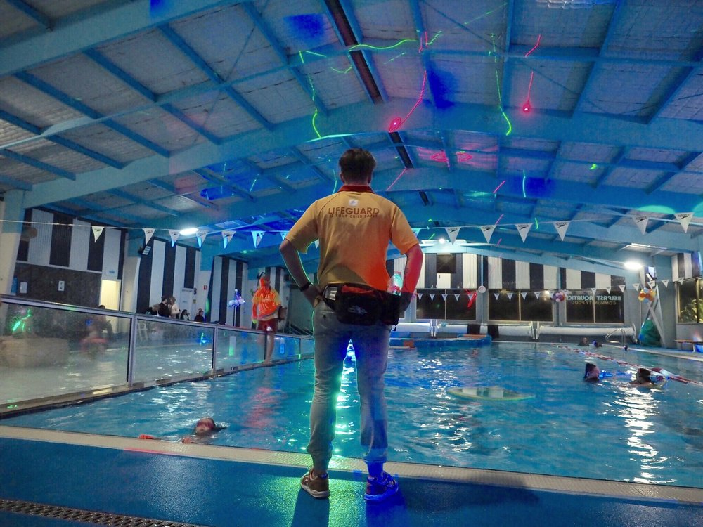POOL PARTY - $10 per childFriday 22 June 6.30pm-8pmBelfast Aquatic Community Pool, Campbell StGet your dancing shoes off, and your bathers on, for this flashy, splashy disco, complete with a live DJ and laser light show, games and more. 15 years and under. No drop-offs, parental supervision is required. Fundraiser event for the Belfast Aquatic Community Pool.