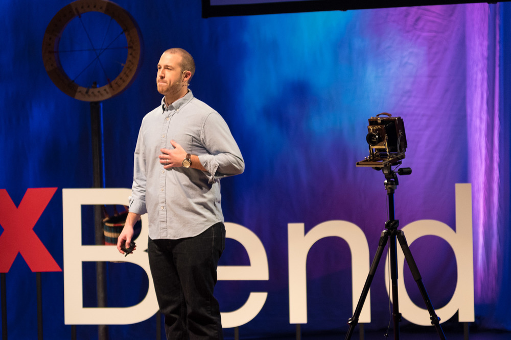 Photo courtesy of TEDxBend by  Timothy Park