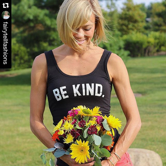 #Repost @fairytellfashions THANK YOU so much for sharing our message!!! 🌼💛#bebydesign #thebebrand #bekind #be #kind #kindness #fashion #inspiration #tank #summer #powerful ・・・ A simple reminder on the blog today. Be kind to yourself and others. Wear a message that speaks without saying a word. Two amazing companies are doing just that and I am proud to share them with you! New blog post is up! Looking for the perfect tank: @bebydesign • Need the perfect flowers for your desk or home?! Flowers: @traderjoesgrocery #BeKind #bebydesign #thebebrand #ontheblog #traderjoes