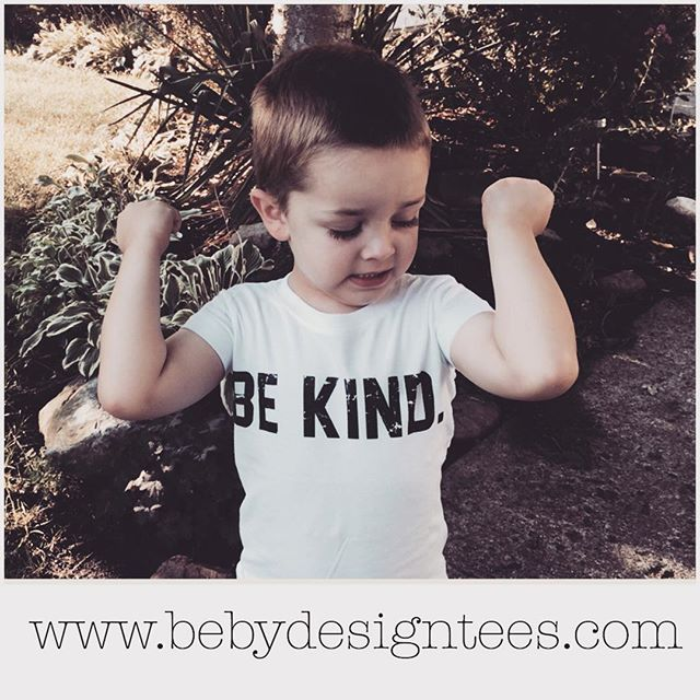 This lil guy is looking strong and sweet in his Be Kind tee! 💪😊 This tee will be $10 OFF during our #flashsale on 8/29, so mark your calendars! #thebebrand #bebydesign #bekind #kind #kindness #kindnessmatters #kids #kidsfashion #wearamessagewithmeaning #purpose #teachkindness #graphictees #kidsapparel #clothing #onlinestore #sale #august