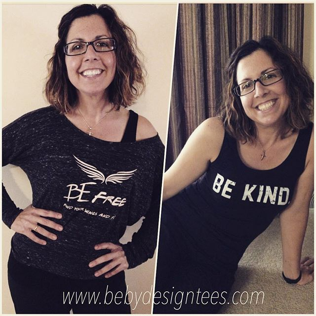 All smiles for our customer Jackie! We appreciate you sharing your Be Tee pics with us! These gems will be $10 off this Saturday in the online store- while supplies last! #happycustomer #inspiration #spreadamessage #thebebrand #bebydesign #flashsale #saturday #smile #cute #fashion #apparel #be #bekind #befree #kind #inspire #purpose #happy