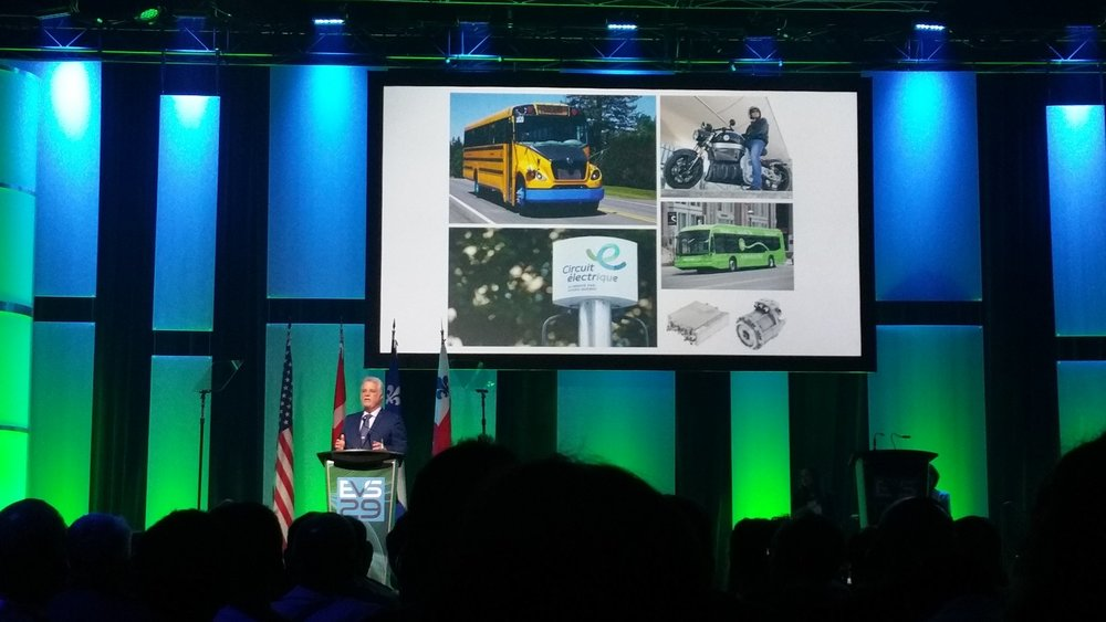 Quebec Premier Philippe Couillard inaugurating EVS29 in Montreal, Canada, June 20, 2016