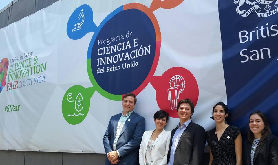 Our consortium (from left to right): Bjørn Utgård (ESCOIA), Monica Araya (CR Limpia), Esteban Bermúdez (ESCOIA), Andrea San Gil (CPSU), María José Vargas (CR Limpia). Missing: Raquel Salazar and the team from E3G.