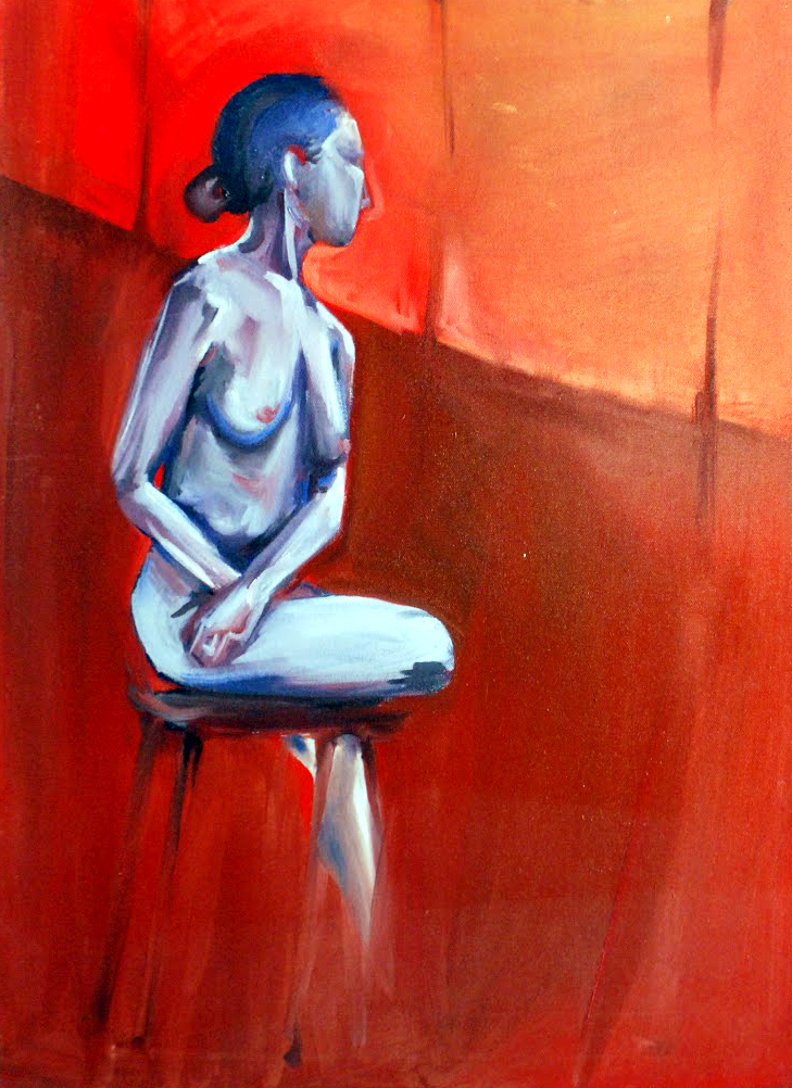 Nude In Red Room