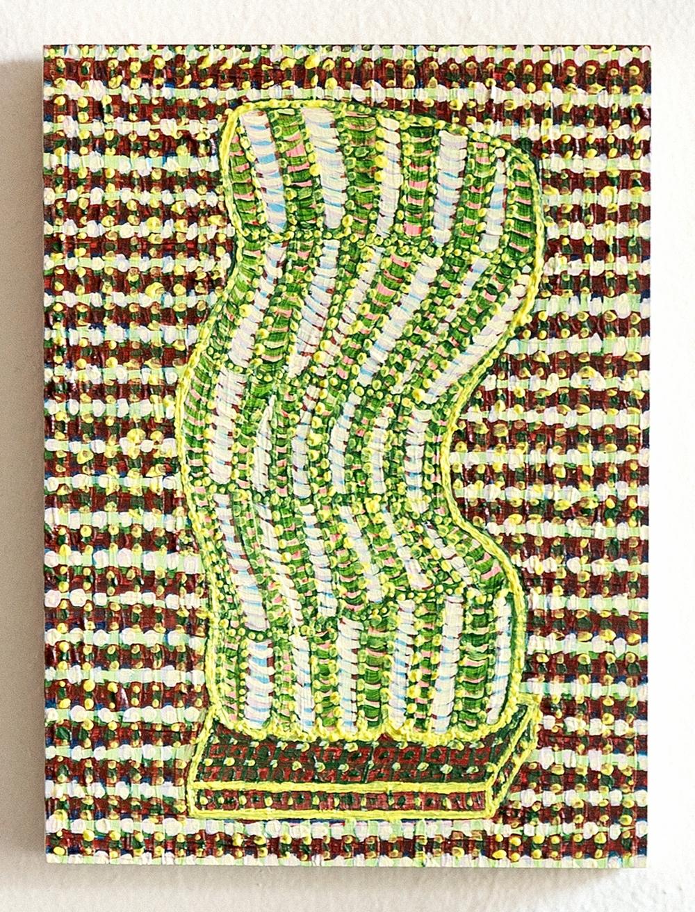 2015, Acrylic on wood panel