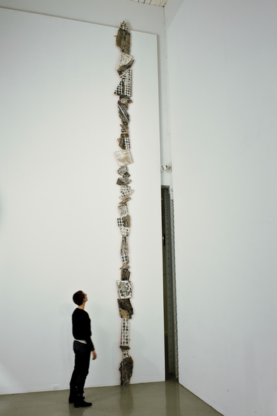 (Installation View), 2010,Wood, engraved drywall, india ink, paint, and spackle