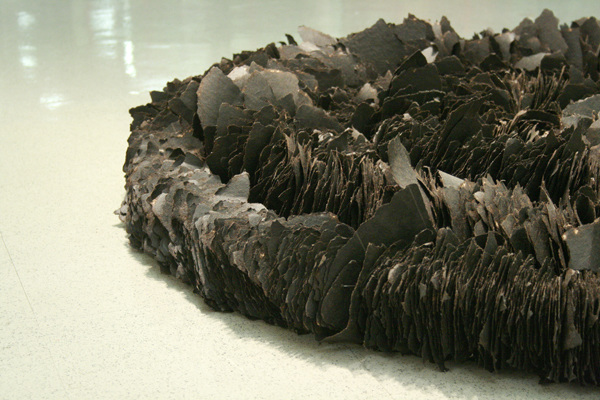 Acheron (detail), 2009, Tar paper and wire