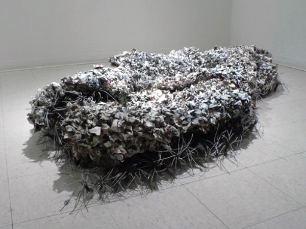2008, Newspaper, acrylic paint, wire, chicken wire and hot glue