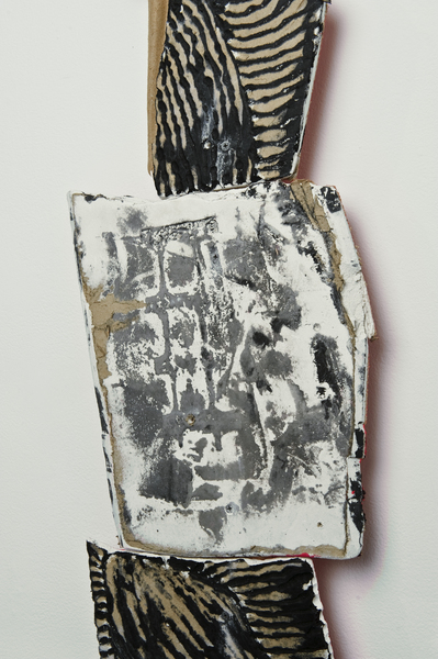 (detail), 2010,Wood, engraved drywall, india ink, paint, and spackle