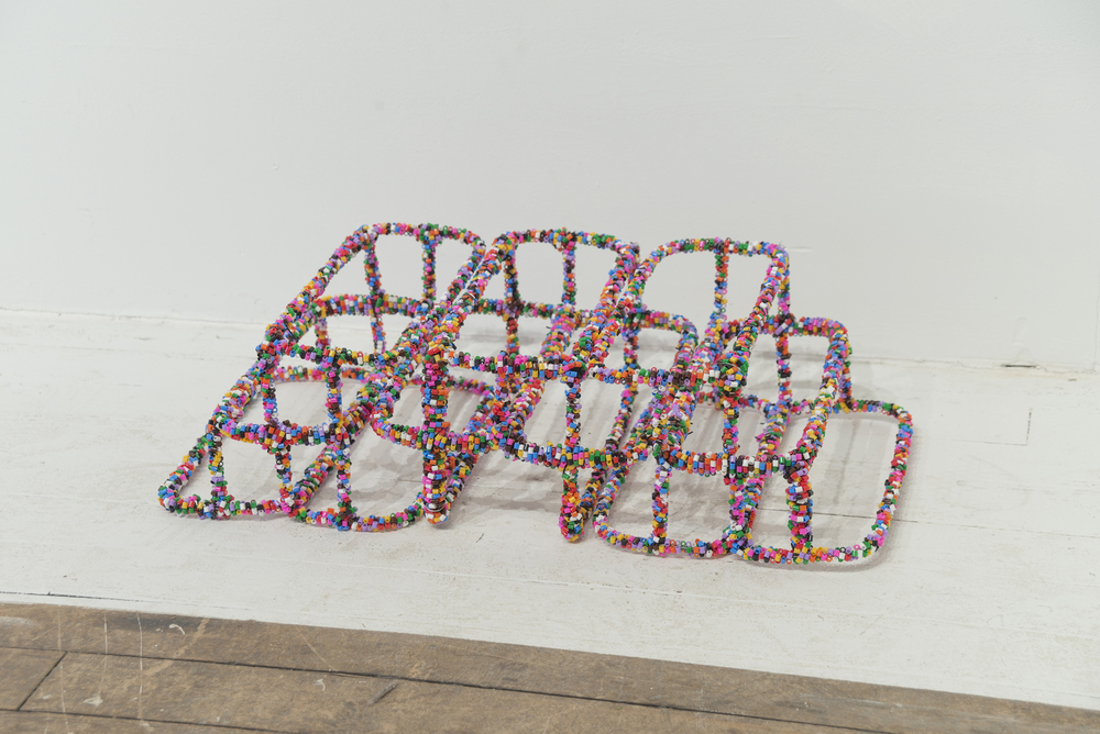 2016, Plastic beads, wire and metal