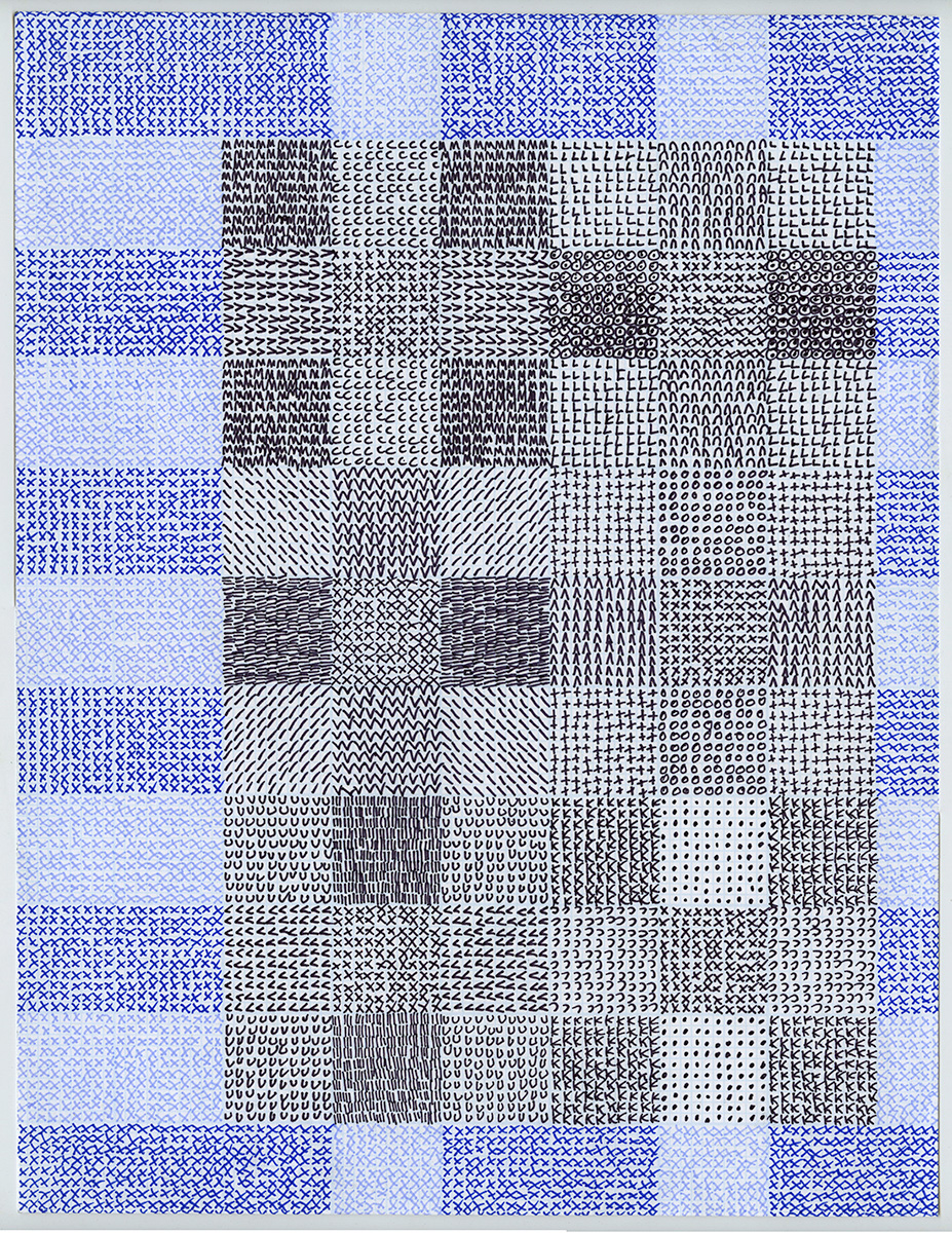 2016, Pen on graph paper,8.5 x 11 inches