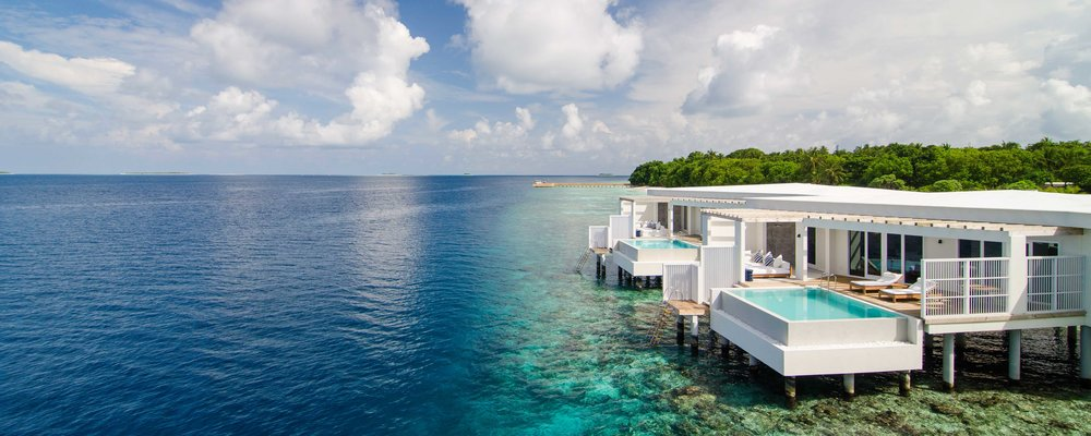 The luxurious villas of Amilla Fushi