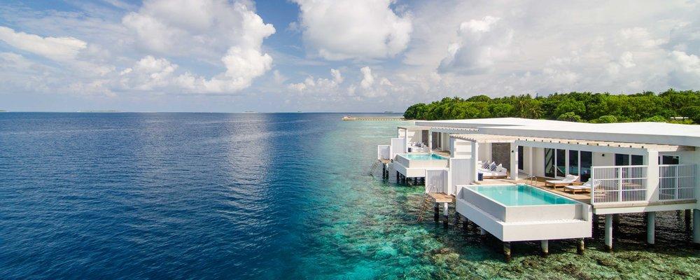 The luxurious villas of Amilla Fushi